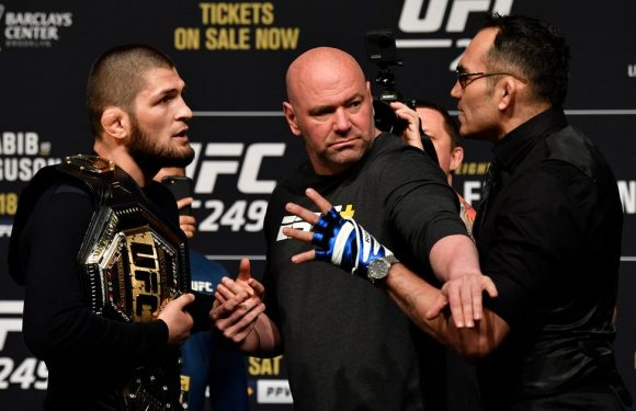 """Khabib tells Tony Ferguson """"you look like a s***"""" after being goaded by rival"""