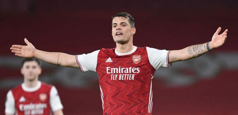 Granit Xhaka launches furious rant as Arsenal throw away Slavia Prague win
