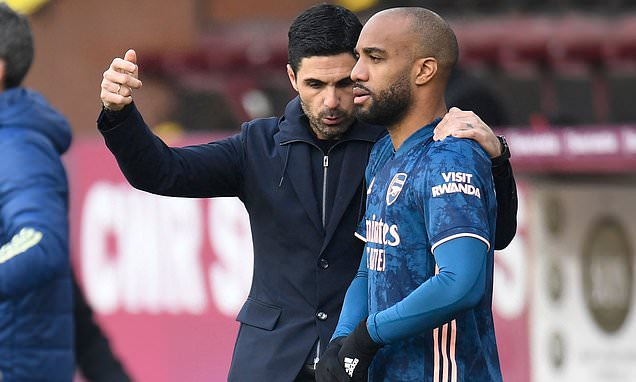 Arteta: Lacazette's future will be addressed at the end of the season