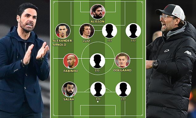 Arsenal v Liverpool combined XI: Odegaard is in, but what about Mane?