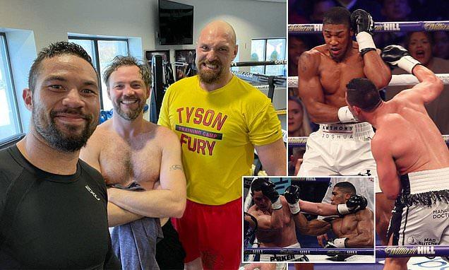 Tyson Fury trains alongside Joseph Parker ahead of Anthony Joshua bout
