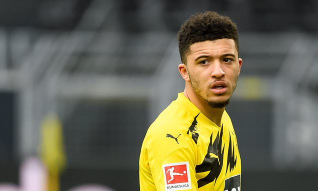 Jadon Sancho set to miss first leg against Manchester City