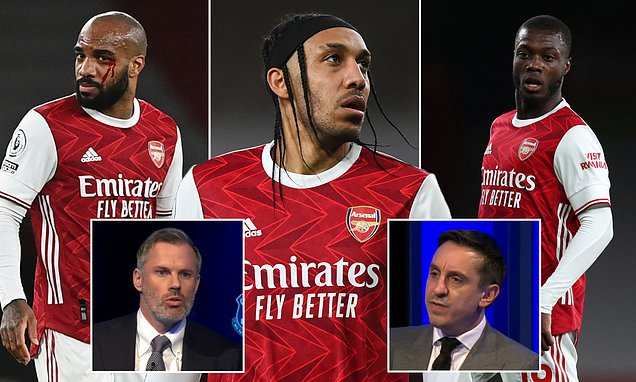 Carragher warns 'lazy' Aubameyang could be 'another Ozil'