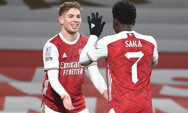 MARTIN SAMUEL: Arsenal must build around Saka and Smith Rowe