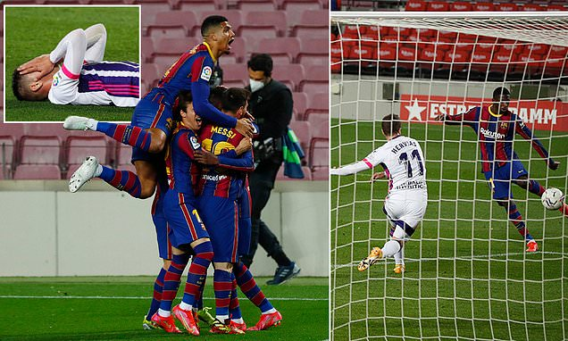 Barcelona 1-0 Real Valladolid: Dembele scores 90th minute volley