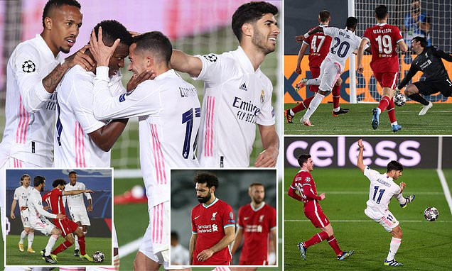 Real Madrid 3-1 Liverpool: Vinicius Jnr scores twice in first-leg