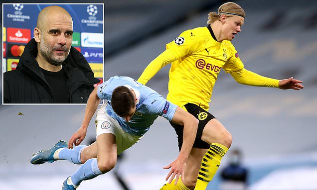 Pep Guardiola hails Erling Haaland as a 'b*****d' to defend