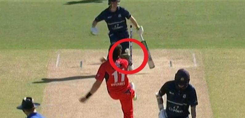'Extraordinary scenes' as debate rages over rare cricket dismissal