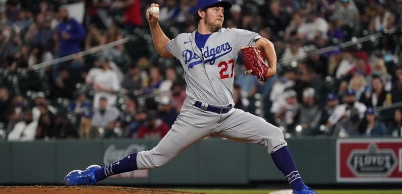 Trevor Bauer starts strong and hangs on for win in up-and-down Dodgers debut