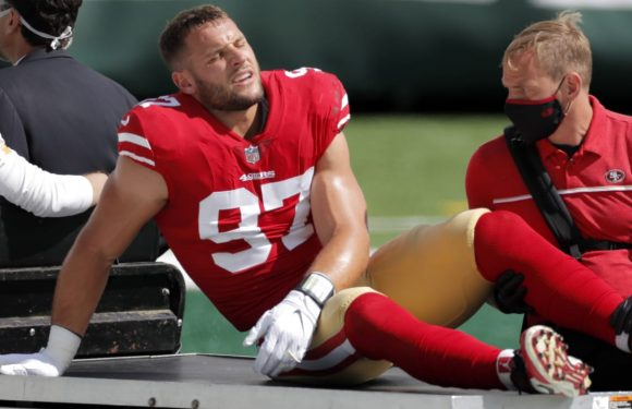 49ers DE Nick Bosa looks good in video showing progress in ACL recovery