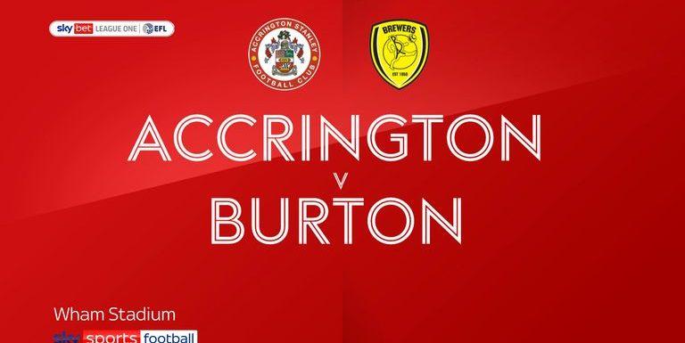 Accrington 0-0 Burton: Goalless at the Wham Stadium