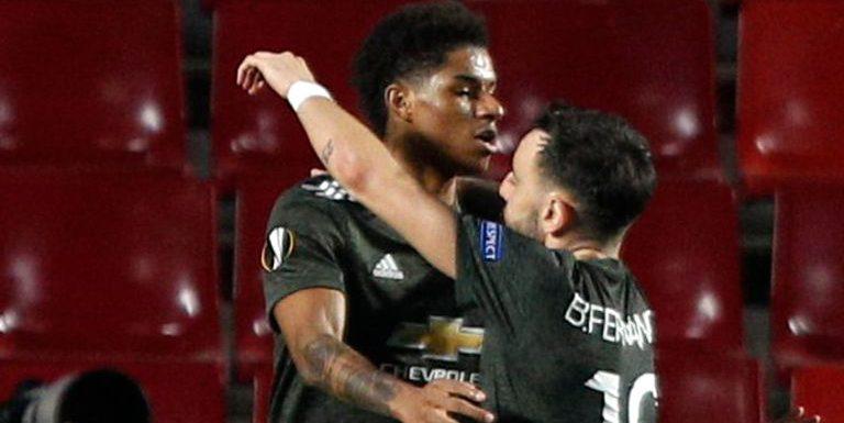 Ole Gunnar Solskjaer hails Marcus Rashford and Bruno Fernandes as Man Utd beat Granada