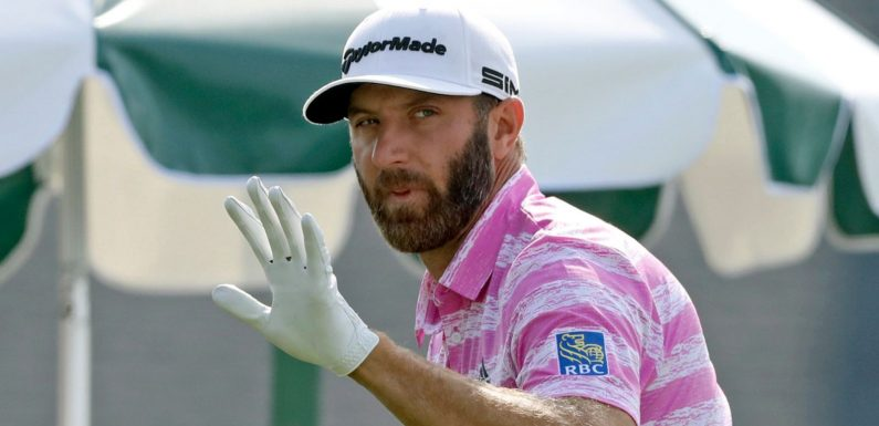 The Masters: Dustin Johnson finds the going tougher in opening 74 at fiery Augusta