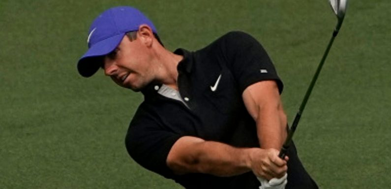 The Masters: Rory McIlroy hits his own father with a wayward shot at the seventh