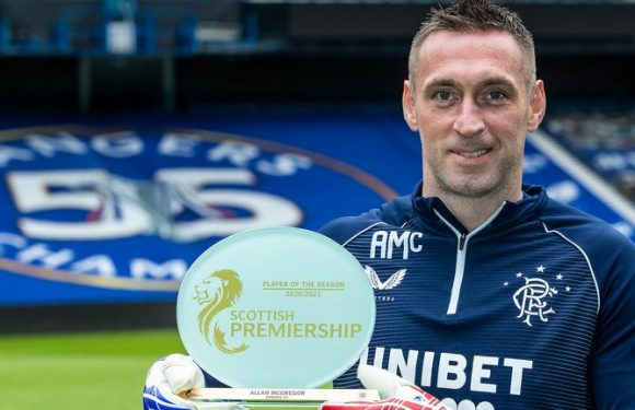 Allan McGregor: Rangers goalkeeper named SPFL Premiership Player of the Year