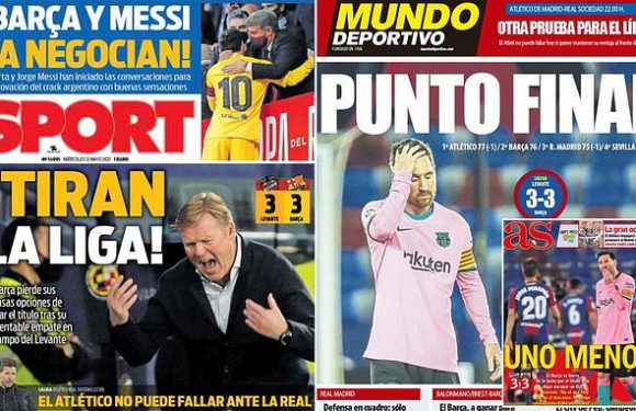 Barcelona: Spanish press bemoan 'ANOTHER fiasco'  in LaLiga title race