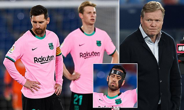 Busquets fumes as Barcelona's LaLiga hopes are 'practically OVER'