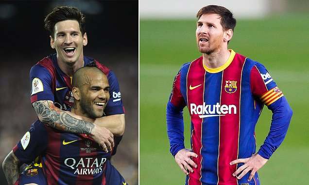 Dani Alves urges Lionel Messi to stay at Barcelona