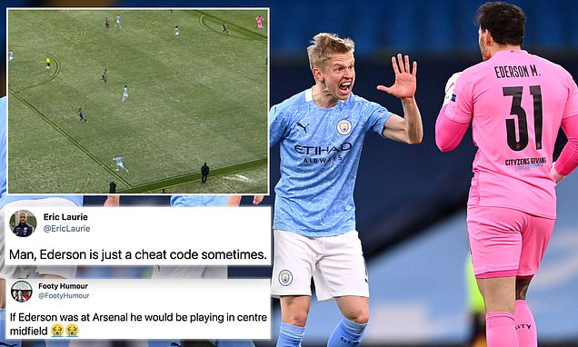 Ederson hailed by fans after superb pass helped set up City opener
