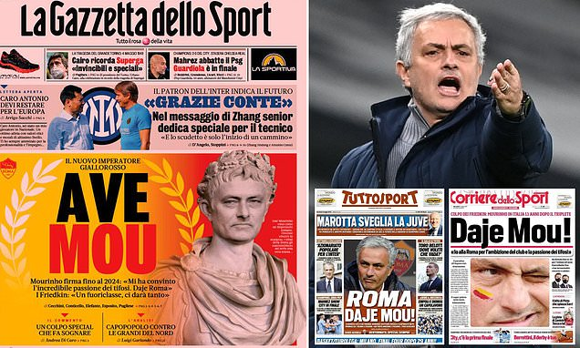 Italian papers react with shock and excitement as Mourinho returns