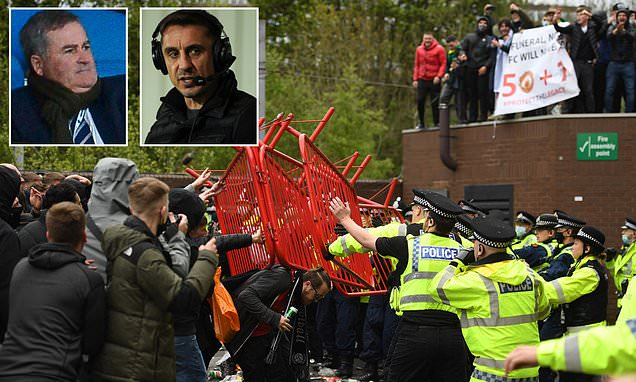 Keys accuses Neville of 'instigating a RIOT' after United fan protest