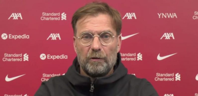 """Klopp addresses """"two things"""" when discussing Liverpool's rough scoring record"""