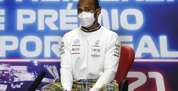 Lewis Hamilton bemused by 'weird question' ahead of Portuguese Grand Prix