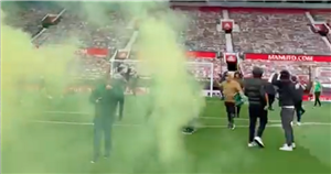 Man Utd fans storm Old Trafford pitch in anti-Glazer protest ahead of Liverpool