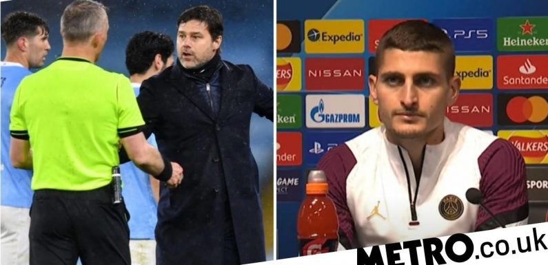 Marco Verratti claims ref told him to 'f**k off' during PSG's defeat to Man City