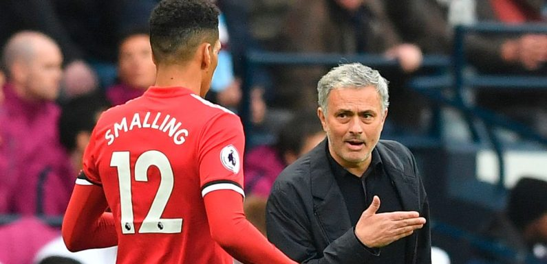 Mourinho's comments about Smalling's feet as former Man Utd boss takes Roma job