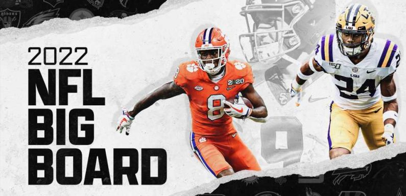 NFL Draft prospects 2022: Big board of top 50 players overall, position rankings