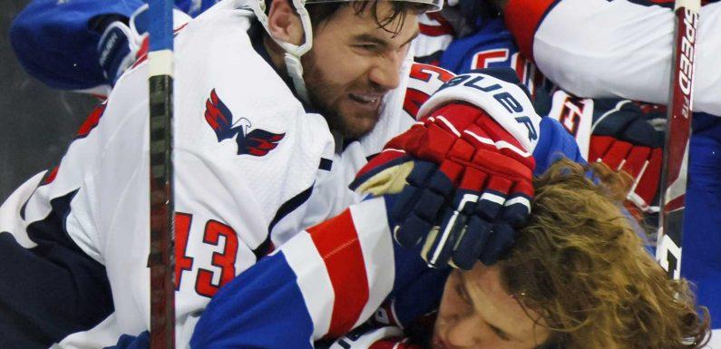 NHL fines Washington Capitals' Tom Wilson $5,000 for instigating massive brawl against New York Rangers