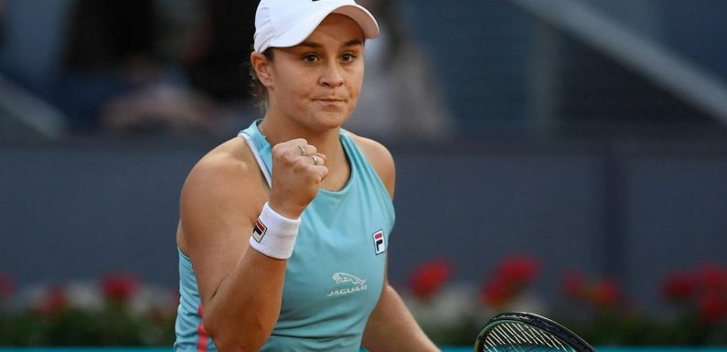 Queen of clay Ash Barty extends incredible hot streak