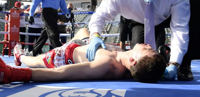 The boxing world is in uproar after a 'grotesque' knockout