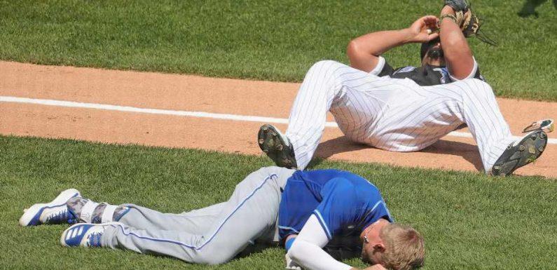 White Sox's Jose Abreu, Royals' Hunter Dozier involved in scary collision