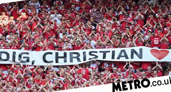 Belgium and Denmark stop game in 10th minute to applaud Christian Eriksen