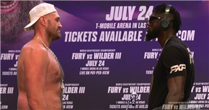 """Deontay Wilder threatens to """"cut off"""" Tyson Fury's head in press conference"""