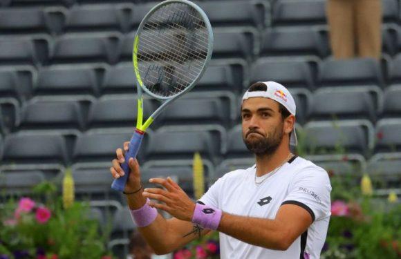 Tennis: Berrettini beats Evans to set up De Minaur semi-final at Queen's