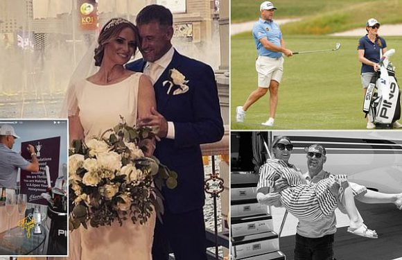 Westwood lifts the lid on his impromptu tying of the knot in Las Vegas