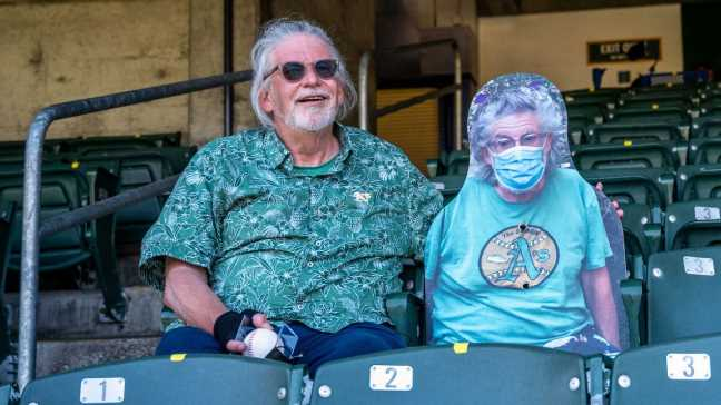 A cardboard cutout, an Oakland A's outfielder and a collision of inspiring events