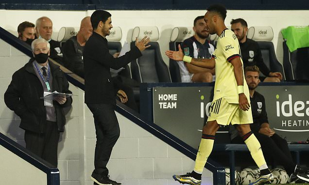 Mikel Arteta: Aubameyang will have better season now the FANS are back