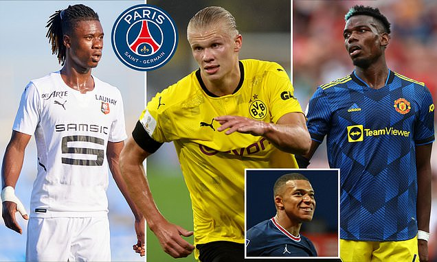 PSG eye moves for Haaland, Pogba and Camavinga to replace Mbappe