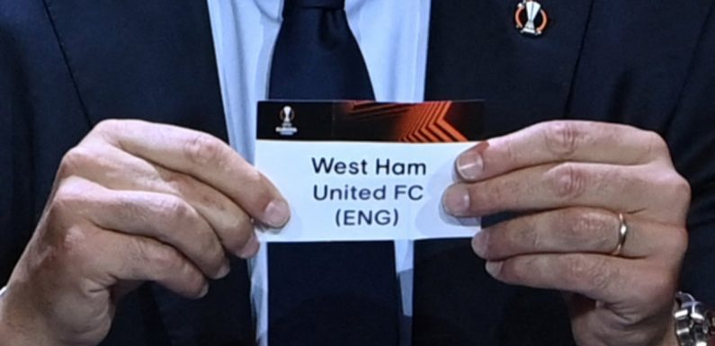 West Ham face Dinamo Zagreb after Europa League group stage draw