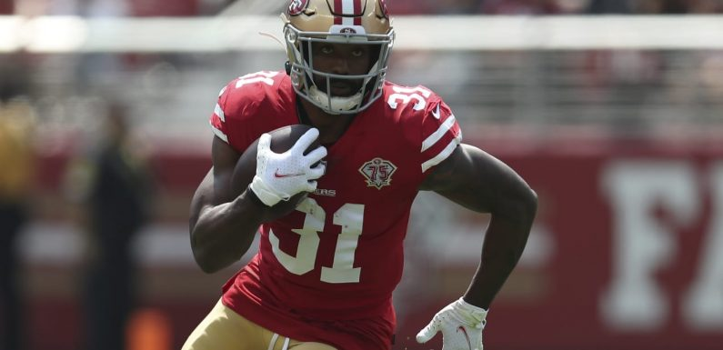 49ers RB Raheem Mostert (knee) going on IR, expected to miss about eight weeks