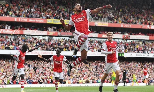Arsenal 1-0 Norwich City: Aubameyang gets Gunners up and running