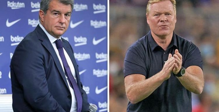 Barcelona chief Joan Laporta decides Ronald Koeman sack plan amid 'fury' over Bayern loss