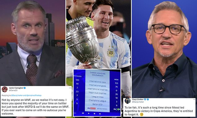 Carragher calls out Lineker over using auto-cue in spat