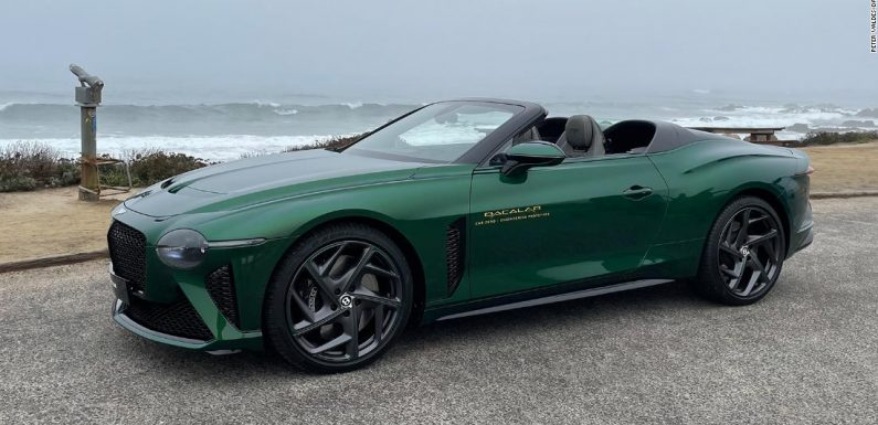 Check out Bentley's $2 million roofless car