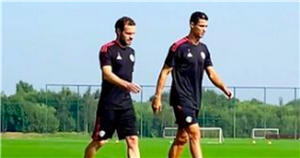 Cristiano Ronaldo spotted out on training pitch for first time back at Man Utd