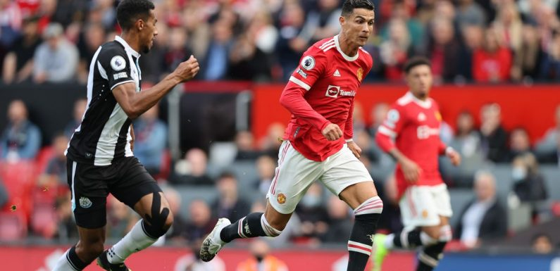 Cristiano Ronaldo sprinted at speeds above 20mph to score second Man Utd goal